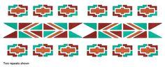 Southwestern Design stencil | walltowallstencils.com #southwestern #pattern