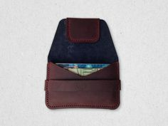 Leather Card Case Wallet with Flap Eighteen32