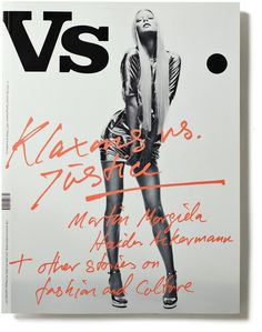 Vs #lettering #cover #drawn #hand #magazine
