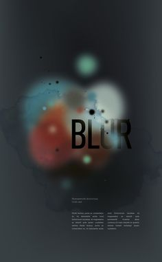 blur project #clouds #blur #illustration #colors #typography