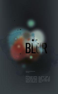 blur project #clouds #blur #illustration #colors #typography