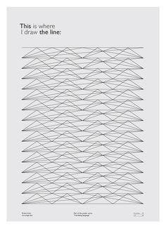 This is where I draw the line. #design #graphic #illustration #poster #art
