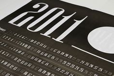 2011 Calendar : unityandform #typography #calendar