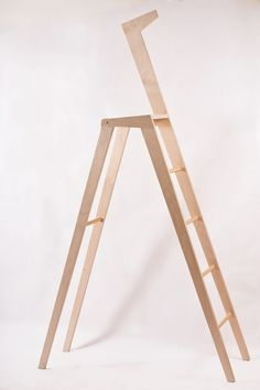 L'Albina on the Behance Network #interior #wood #design #ladder