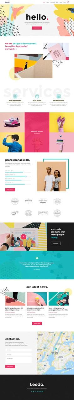 Leedo – Modern, Colorful & Creative Portfolio