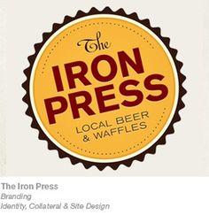 haus. #waffles #beer #haus #branding #iron #the #press