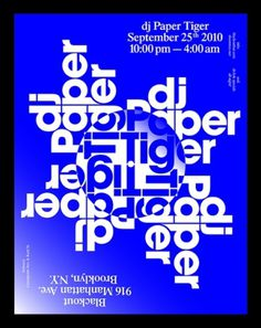 Paper Tiger — Vance Wellenstein #flyer #experimental #poster #typography
