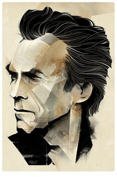 Illustrations (april 2010 - december 2010) on the Behance Network #eastwood #clint #poster