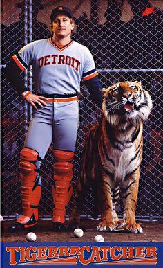 lance_parrish_600_sumner #mlb #detroit #classic #nike #vintage #poster #sport #tiger