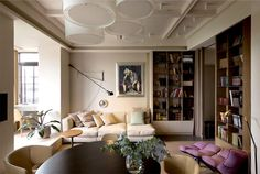 One Bedroom Apartment in Pastel Tones by Olga Akulova - living room, interior design, decor, #livingroom