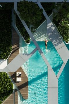 """CJWHO â""""¢ (The Pool at Pyne by T.R.O.P. Aerial photographs...) #design #bangkok #landscape #pool #photography #architecture #luxury"""