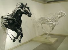 Sayaka Ganz - Fort Wayne, IN Artist - Sculptors - Artistaday.com #sayaka #sculpture #horse #ganz