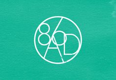 Logo for Electronic Composer - 86 A.D. #green #circle #white #branding #modern #round #music #logo #typography