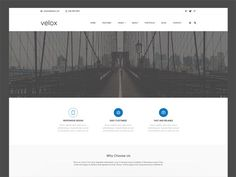 Velox : Free Modern Portfolio PSD Template
