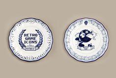 Ceramics. Serial Cut. #plate #cut #arcade #ceramics #retro #pac #serial #man #games