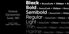 Hurme Geometric Sans No.1–4 on Behance #hurme