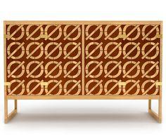 House Industries, Slash-O cabinet, Borge Mogensen, Stellar Works #stellar #house #mogensen #cabinet #industries #wood #furniture #works #borge