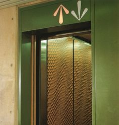 Just. / Blog » 2010 » January #70ties #lift #wayfinding #cameron #andrews #elevator #australian #groovy #green