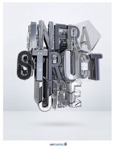 AMP INFRASTRUCTURE | Flickr - Photo Sharing! #typography