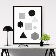 Printable Abstract Wall Art // #iloveprintable #abstract