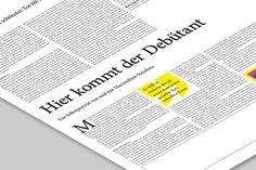 VOLLTEXT Zeitung für Literatur on Behance #print #design #layout #editorial #magazine