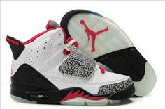 """Fire Red\"" & Black White and Cement Jordan Son of Mars Mens"