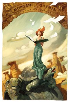 Teetering bulb #woman #illustrator #paint #illustration #tortle #desert
