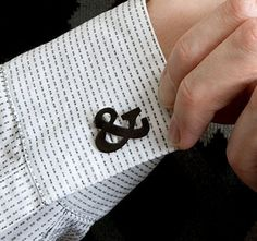 Veer: Products: Merchandise: Ampersand Faux Cufflinks ($20-50) — Svpply #ampersand #shirt #cufflinks #typography