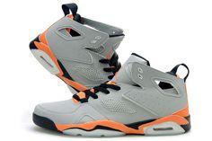 Nike Air Jordan Flight Club 91 Grey Orange Black Mens Shoes