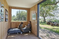 40' Highboy Shipping Container Turned into a Cozy Hunting Cabin 7