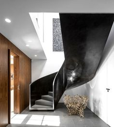 London Penthouse by Fernanda Marques Arquitetos Associados - stairs, staircase, stairway, architecture, interior design, home #design, #stai