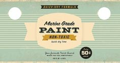 Paint Can 2 | Flickr - Photo Sharing! #paintcan #design #vintage #label