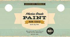 Paint Can 2 | Flickr - Photo Sharing! #paintcan #design #vintage #label