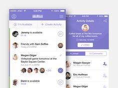 iOS App by Brian Plemons #inspiration #flat #ux #design #ui #app #ios