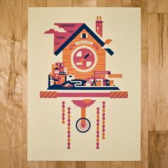 Bandito Design Co. — time to ride #bicycle #ride #illustration #time #poster #clock
