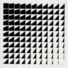 Kees Visser. Shift 1976, paint and pencil on paper #pattern