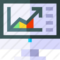 See more icon inspiration related to business and finance, seo and web, bar chart, stats, bar graph, marketing, statistics, graph, chart, screen, graphic, technology and computer on Flaticon.