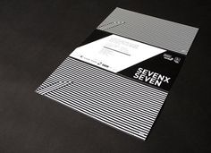 7x7 on Branding Served #white #pattern #branding #black #identity #and