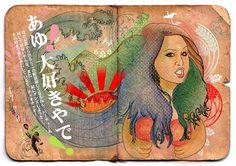 JPOP Japanese pop on the Behance Network #girl #design #graphic #colorfull #zeland #illustration #japan #new