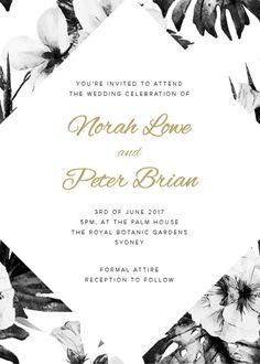 Hibiscus - Wedding Invitations #paperlust #weddinginvitation #weddingstationery #weddinginspiration #card #design #paper #raisedfoil