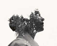 Graphic-ExchanGE - a selection of graphic projects #illustration #photography #leaves #portrait