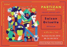 Partizan Brewing Saison Grisette G000 102 #brewery #partizan