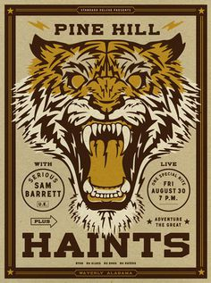 GigPosters.com - Pine Hill Haints - Serious Sam Barrett #gig #poster #screen #print