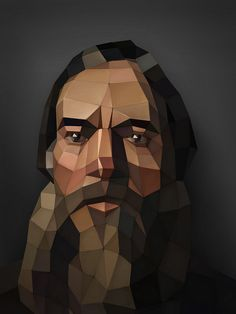 Nikolai Ge – Portrait of a bearded peasant | Inspiration DE #digital #portrait #3d #art