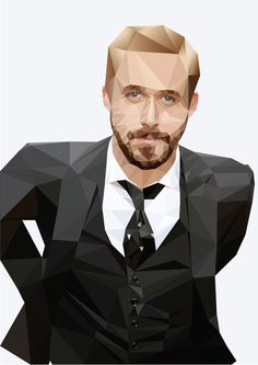 Digital Illustration - Ryan Gosling on Behance #abstract #ryan #design #illustration #portrait #art #gosling