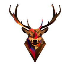 FACETS – Buck #creative #poly #illustration #art #low