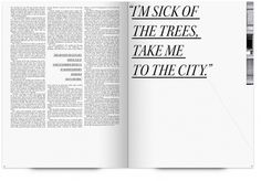 UW Design Show 2011 | Andrea Drake #page #city #book #publication #trees #magazine #typography