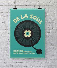 De La Soul Bestival poster design by Chris Hannah #chris #bestival #hannah #gig #design #stevie #wonder #posters #poster #music