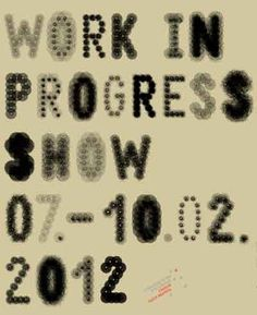 MA Communication Design: Work in Progress show #poster #typography