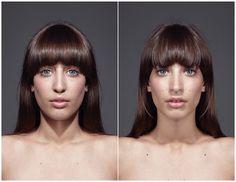 Symmetrical Portraits | Fubiz ™ #portraits #symmetrical